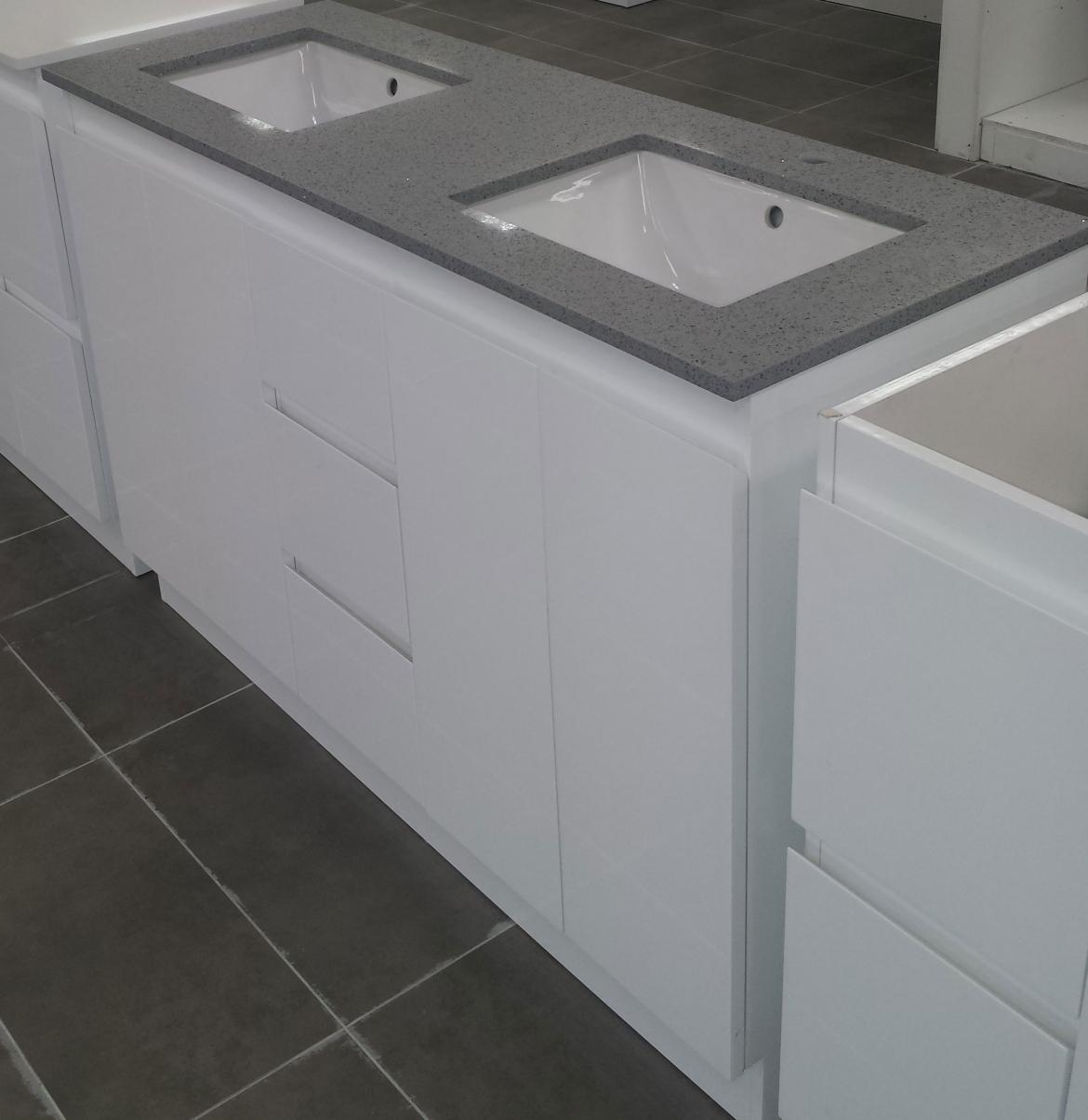 Bathroom stone top vanity [Double Basin-1400 mm]