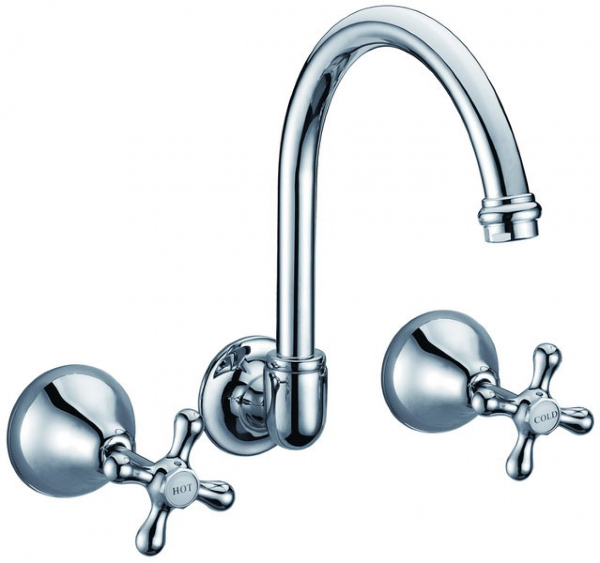 Round Wall Basin/Bath Tap set