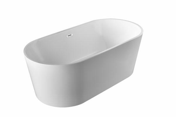 Round oval free standing bath tub