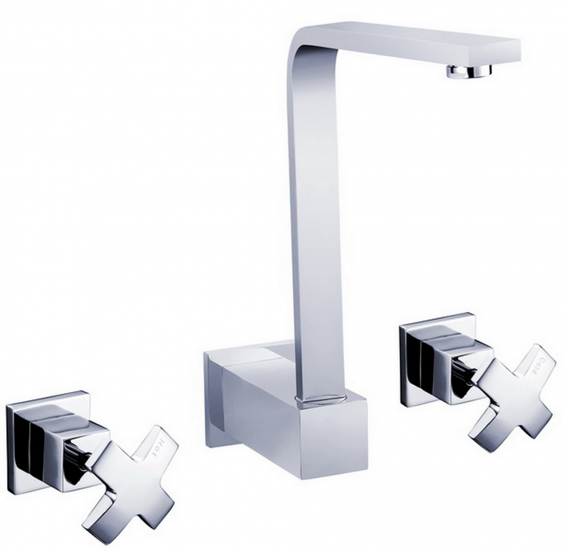 Square Wall Basin/Bath Tap set