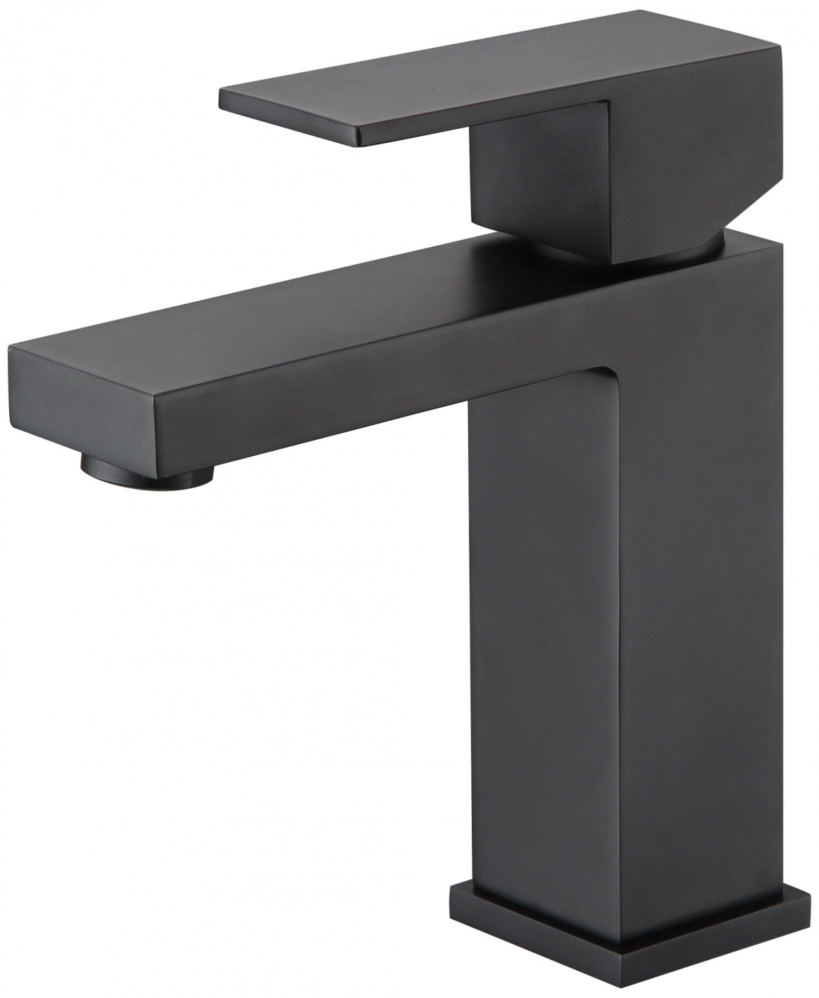 Square basin mixer tap in black
