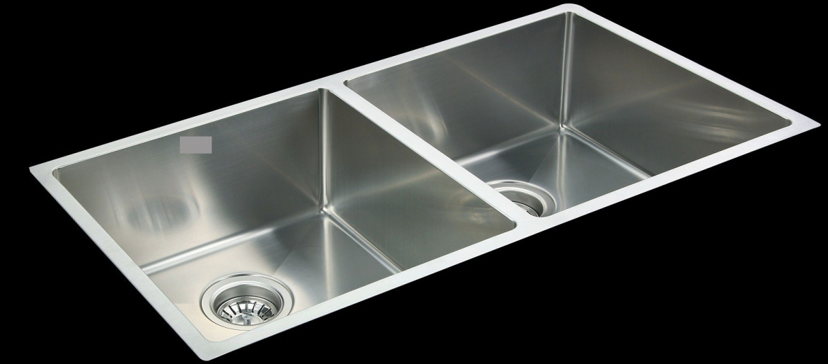Square undermount Kitchen sink [double sink]