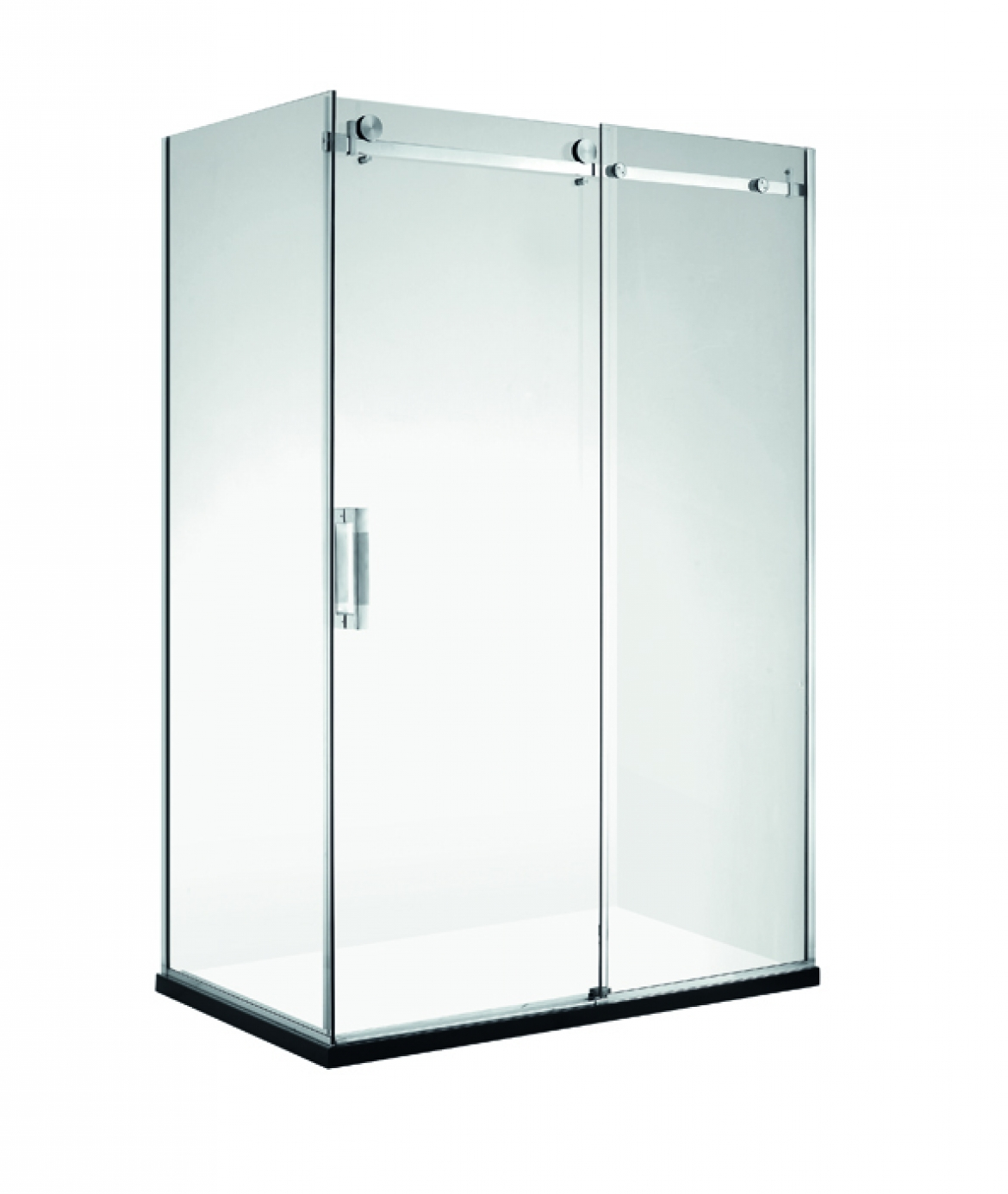 frameless shower screen [1150 x 850 sliding door]