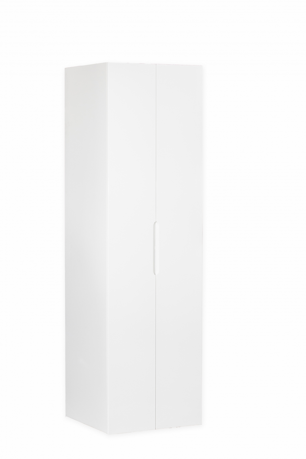 450 mm kitchen pantry cabinet with 2 pac gloss white doors