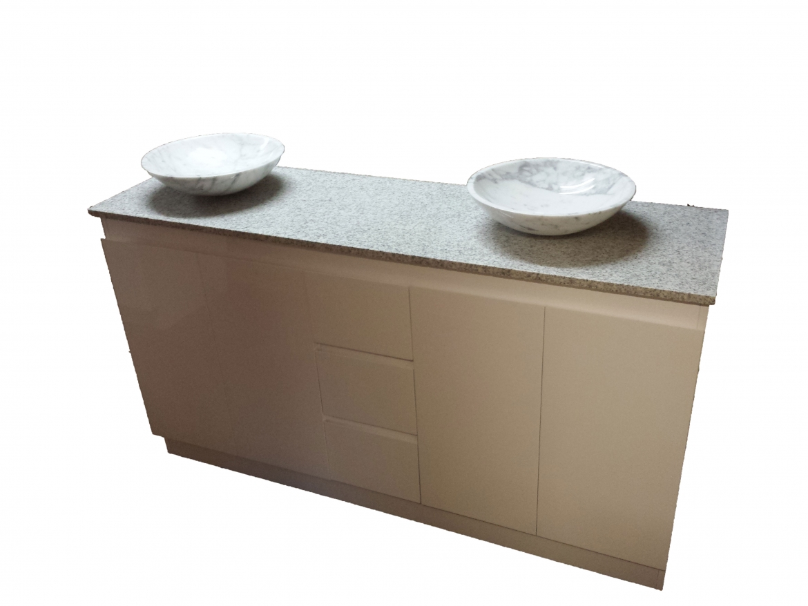 Bathroom Vanity with granite bench top and marble basin [1200 mm]