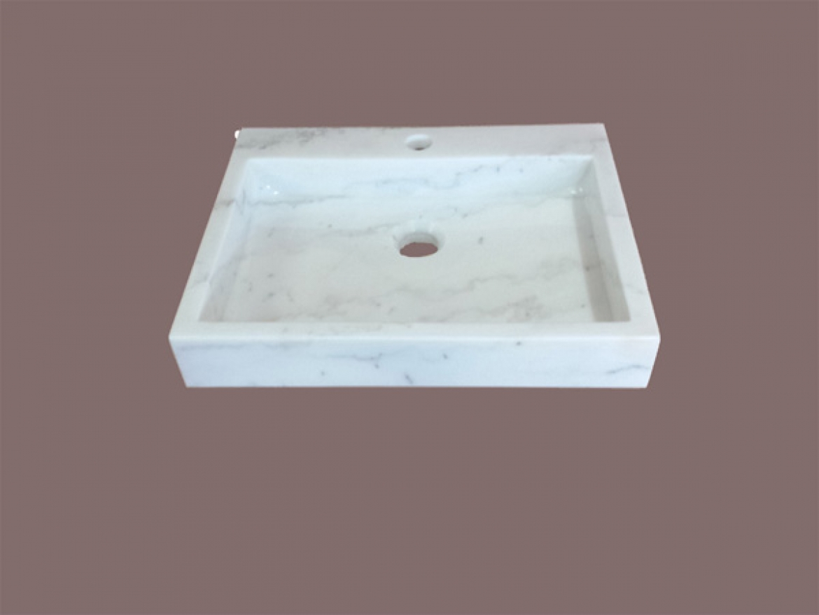 Natural MARBLE Square Basin [counter top]