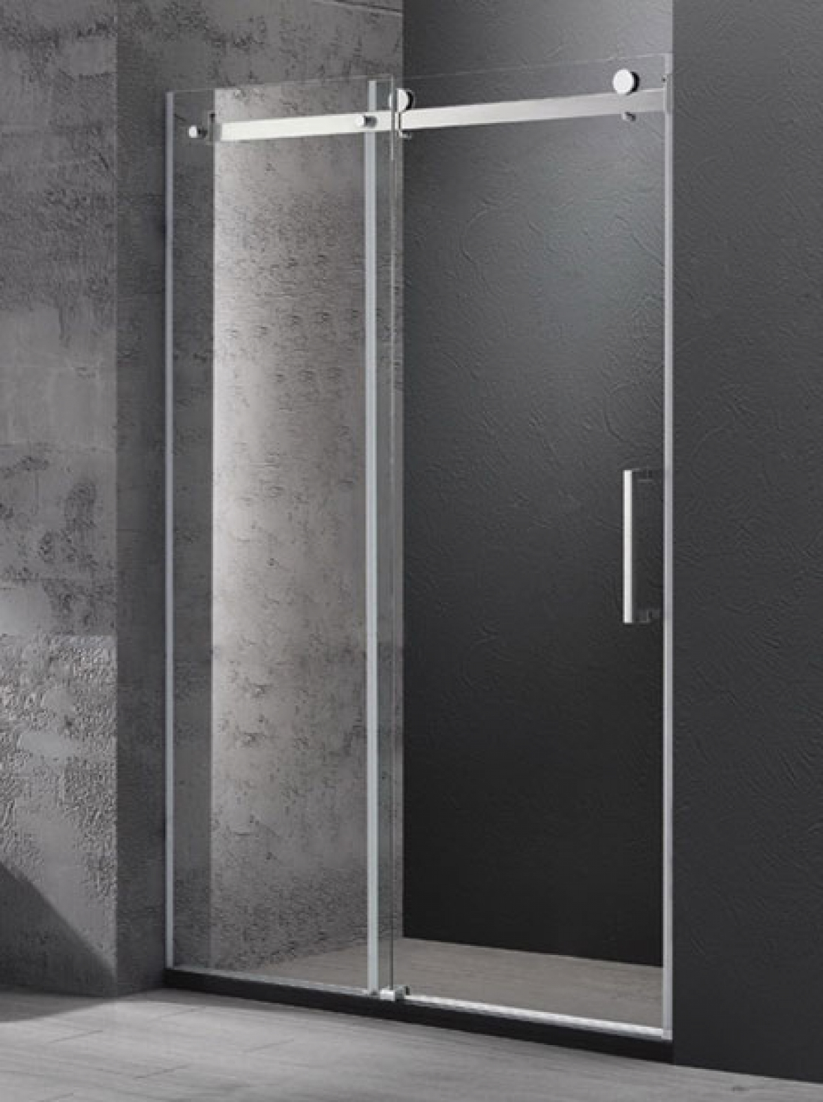 Wall to wall frameless sliding shower screen [1600 x 1950 mm]