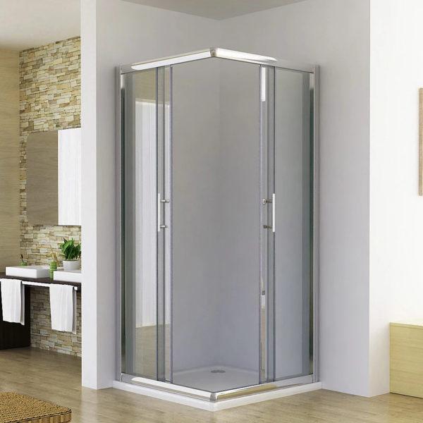 Double sliding door shower screen [8016]