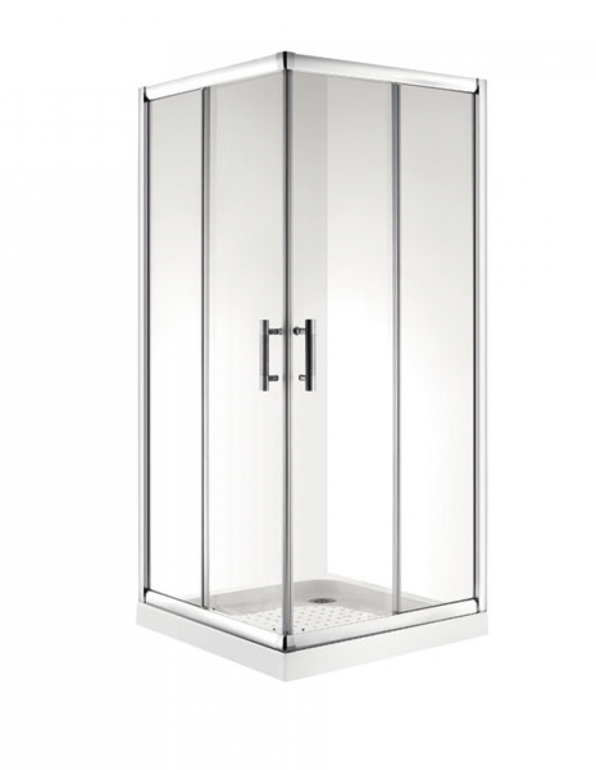 Double sliding door shower screen [8016] $300-$350