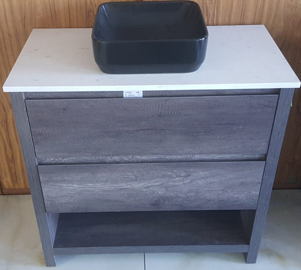 900 mm Bathroom vanity in timber finish  with draws