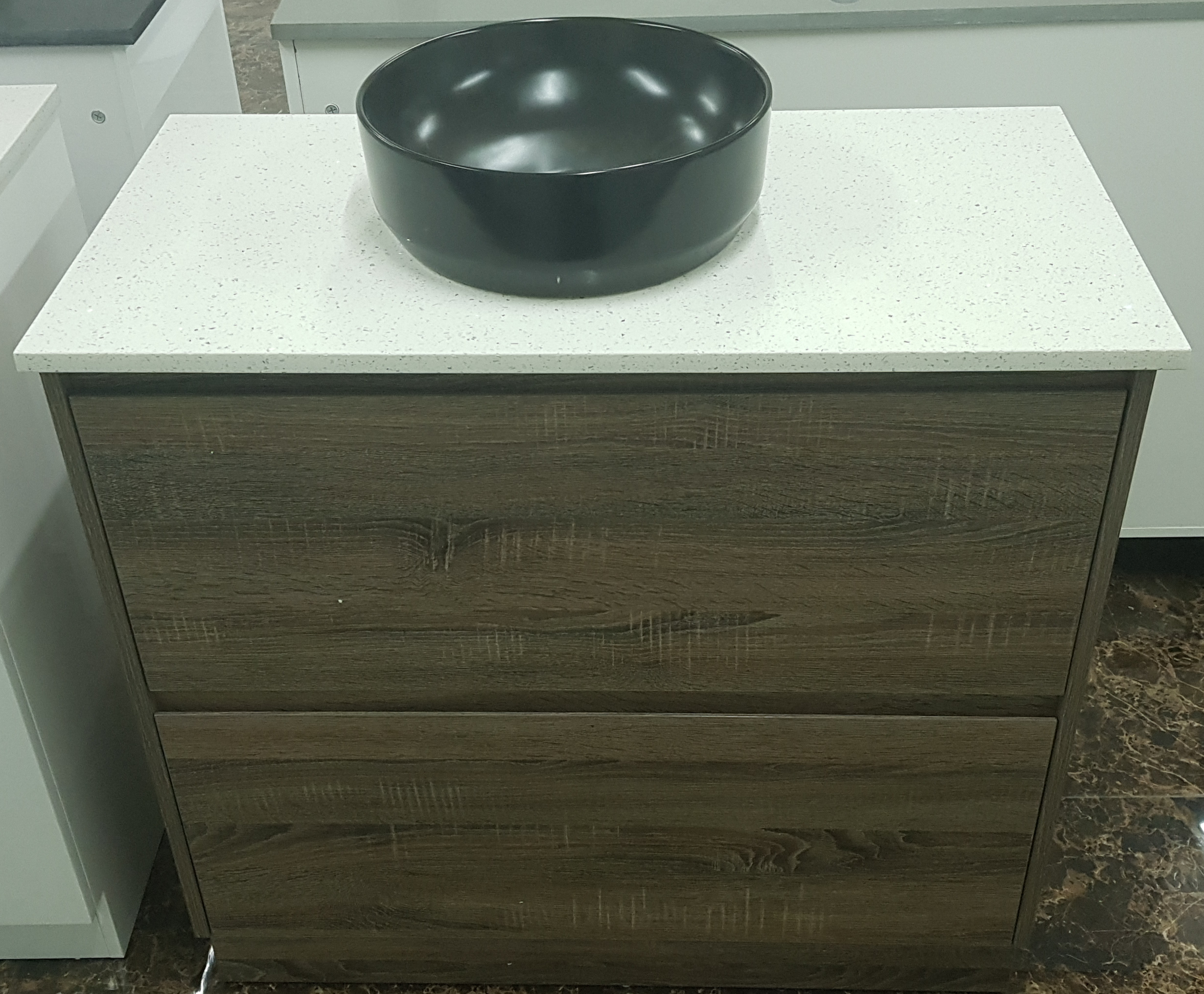 900 mm timber Bathroom vanity  with big draws