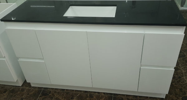 Bathroom vanity [single basin-Black stone benchtop]