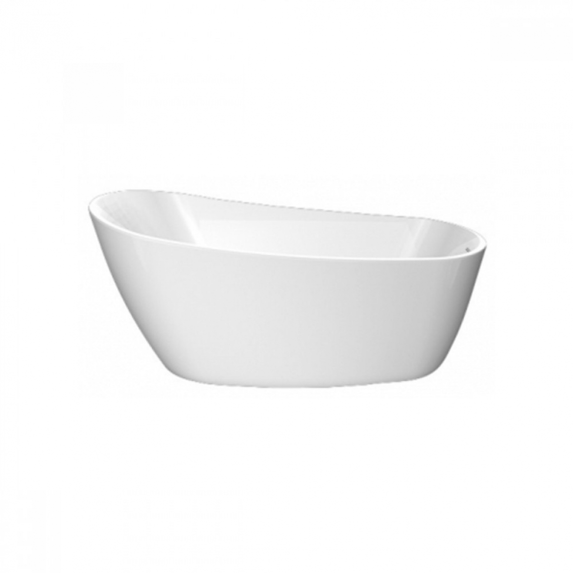 Oval  free  standing  bath  sloped