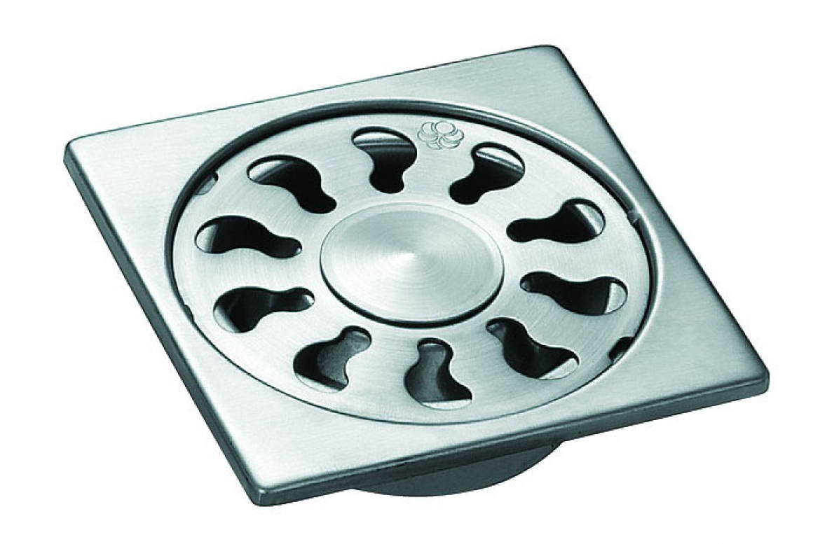 Stainless Steel Shower Grate   100mm x 100 mm